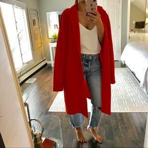 Rachel Zoe Bright coral jacket size Large
